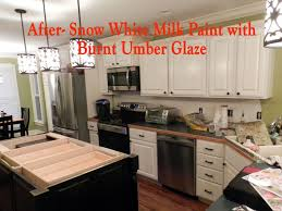 Antique White Glazed Kitchen Cabinets Brilliant Simple General Finishes Milk Paint Kitchen Cabinets