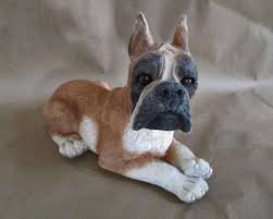 boxer dog statue canine dog archives ceramics and pottery arts and resources