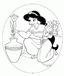 disney princess jasmine coloring pages print free background