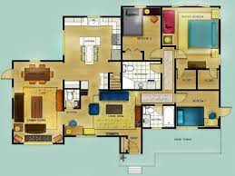 28 color floor plan color 2d graphics floor plans color 2d