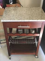 Microwave Stand Marble Top Microwave Stand With Wine Rack For Sale In Mckinney Tx