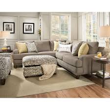 Living Room Theater North Bennington Franklin Julienne Sectional Sofa With Four Seats Old Brick