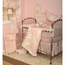 Nursery Bedding Set by Cotton Tale Designs Heaven Sent Pink 4 Piece Crib Bedding Set