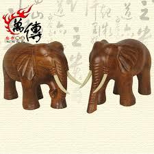 buy mahogany wood carving elephant ornaments solid wood wooden