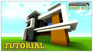 minecraft tutorial modern house step by step 2016 youtube