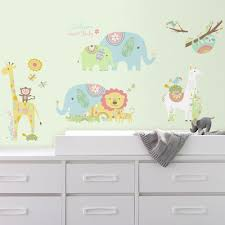 roommates 5 in x 19 in thomas and friends peel and stick giant 5 in x 11 5 in tribal baby animals 15 piece peel and
