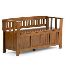 simpli home acadian two seat storage bench u0026 reviews wayfair