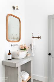Concrete Bathroom Vanity by A Beautiful Concrete Vanity With A Marbled Vessel Sink