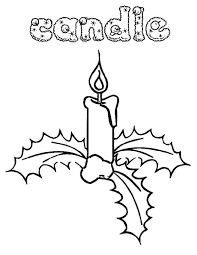 coloring page christmas candle easy free coloring pages for