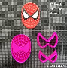 spiderman fondant cutter cupcake topper cookie topper