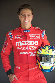 mazda car and driver cooper tire and teen race car driver tristan nunez provide safety