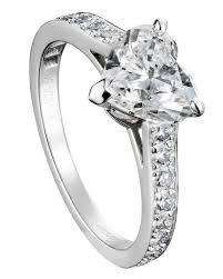 heart shaped engagement ring heart shaped engagement rings martha stewart weddings