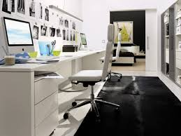 stunning black and white home office chair design with leatherette