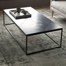 black granite table top stone coffee tables with modern style