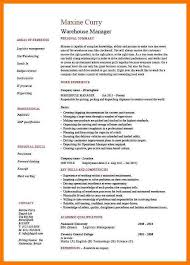 Examples Of Warehouse Resumes by 8 Warehouse Resumes Examples Park Attendant