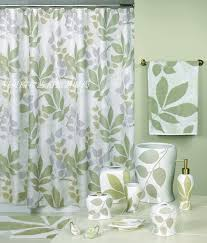 Curtains With Green White Fabric Curtains With Green And Purple Leaves Print Plus
