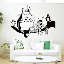 dessin mural chambre style totoro stickers muraux dessins animés totoro décoration