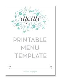 free blank menu template best 25 free menu templates ideas on menu printing