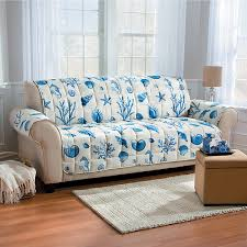 cindy crawford beachside sofa improvements coastal shell print furniture protector sofa 63 cad