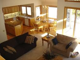 Open Plan Kitchen Flooring Ideas Kitchen And Living Room Open Concept Images Outofhome Living Room