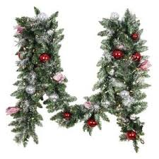Outdoor Garland With Lights by Martha Stewart Living 9 Ft Winslow Artificial Garland With 100
