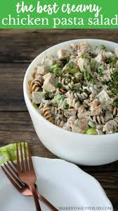 Best Pasta Salad by The Best Creamy Chicken Pasta Salad