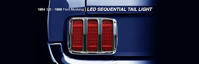mustang led tail lights 1964 1 2 1966 ford mustang led sequential tail light united pacific