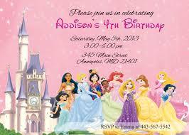 birthday invitation themes disney princess birthday invitations lilbibby com