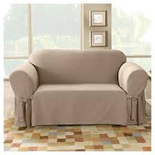 Slipcovers For Couches With 3 Cushions Cotton Duck Sofa Slipcover Sure Fit Target