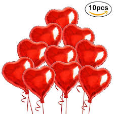 valentines balloons 10 heart foil helium balloons inflable heart shaped foil