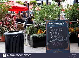watermark irish pub bar and restaurant patio area outside toronto