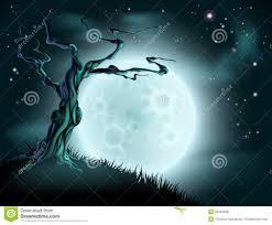 halloween cartoon background blue halloween moon tree background royalty free stock photos