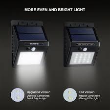 driveway motion sensor light victsing 16led solar power lights waterproof outdoor wall security