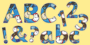 themed letters time clocks themed display lettering time clocks display