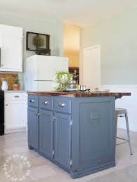 kitchen island makeover painting the island diy kitchen island makeover part 2