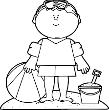 summer boy beach coloring page free printable pages for adults