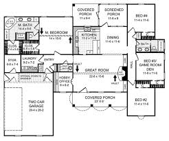 country style house plan 4 beds 2 50 baths 2000 sq ft plan 21 145