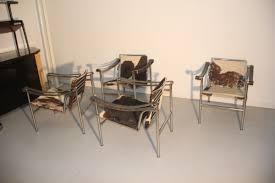 Esszimmerst Le Design Französische Lc1 Stühle Von Le Corbusier Für Cassina 1970 4er