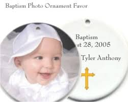 baptism ornament favors porcelain photo ornametn personalized baptism favors