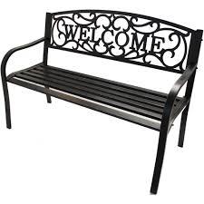 better homes and gardens outdoor welcome garden bench walmart com