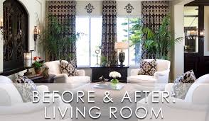 modern traditional living room before and after san diego