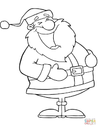 laughing santa claus coloring free printable coloring pages