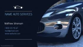 Car Service Business Card Business Cards Business Card Templates Postermywall
