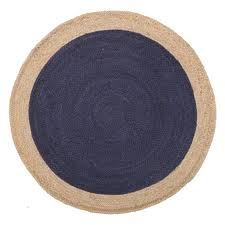luxury blue round rug home decorators collection ultimate shag