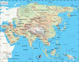 Italy Physical Map by Asia Map With Countries Map Of Asia Continent Clickable To Asian