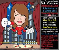 order digital advertising illustrations caricature ad cartoon