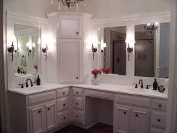 lighting in bathroom with corner vanity interiordesignew com