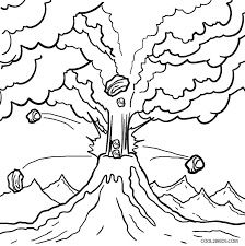 printable volcano coloring pages kids cool2bkids