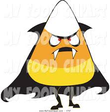 halloween costumes candy corn food clip art of a halloween candy corn wearing a vampire costume