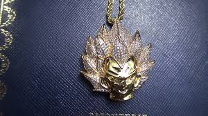 custom gold necklace custom gold vegeta necklace pendant and chain at bijouteriegonin